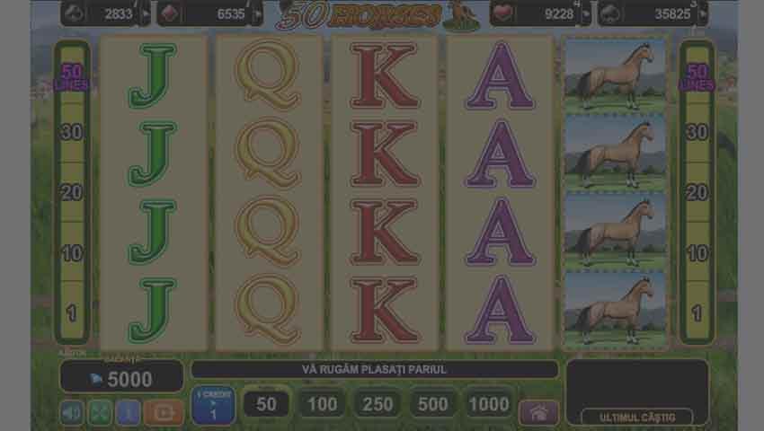 ecran de joc 50 horses slot